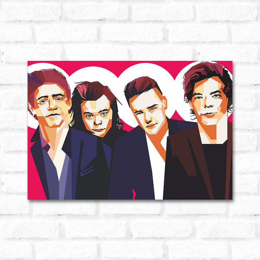Placa Decorativa One Direction Pop Art - QCola