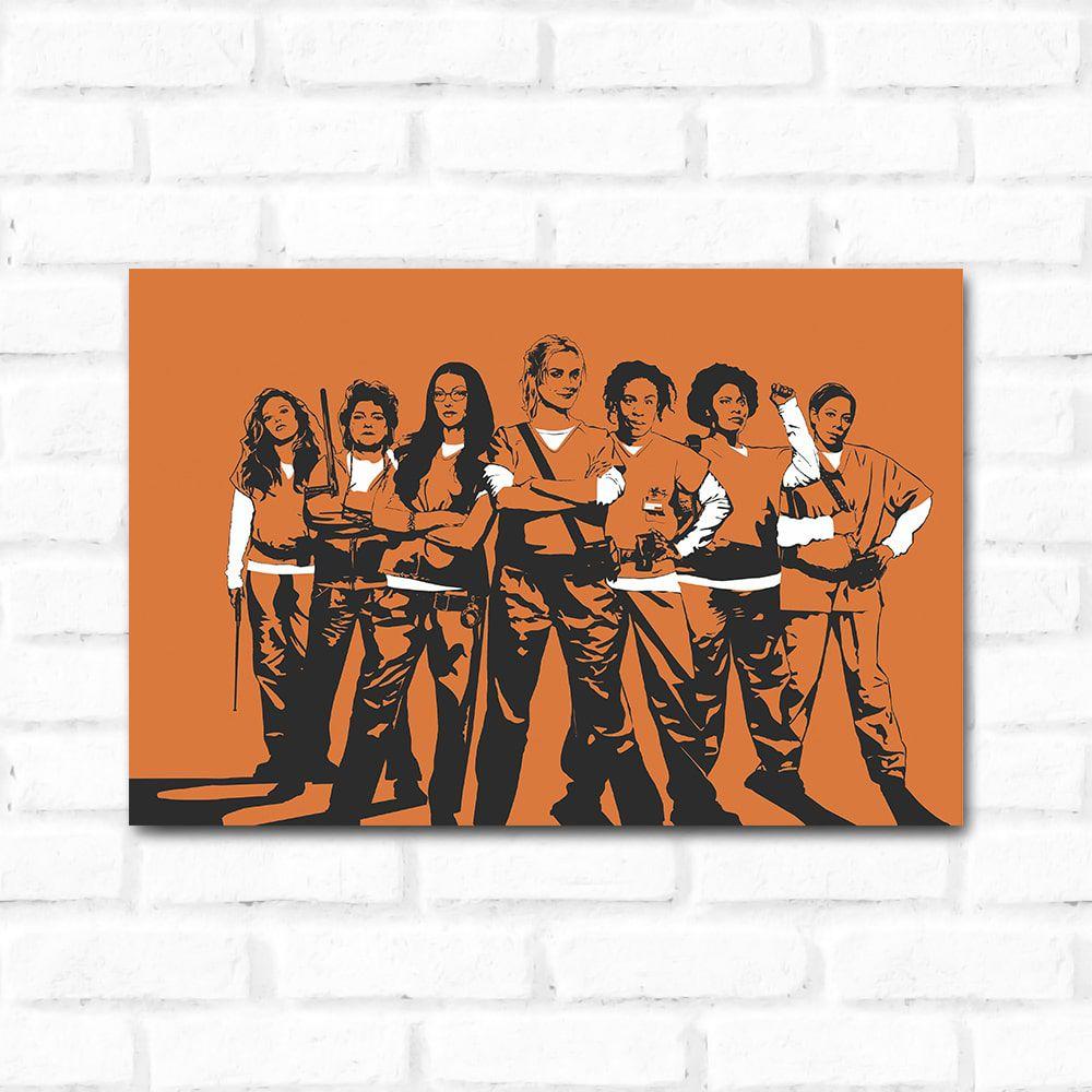 Placa Decorativa Orange is The New Black