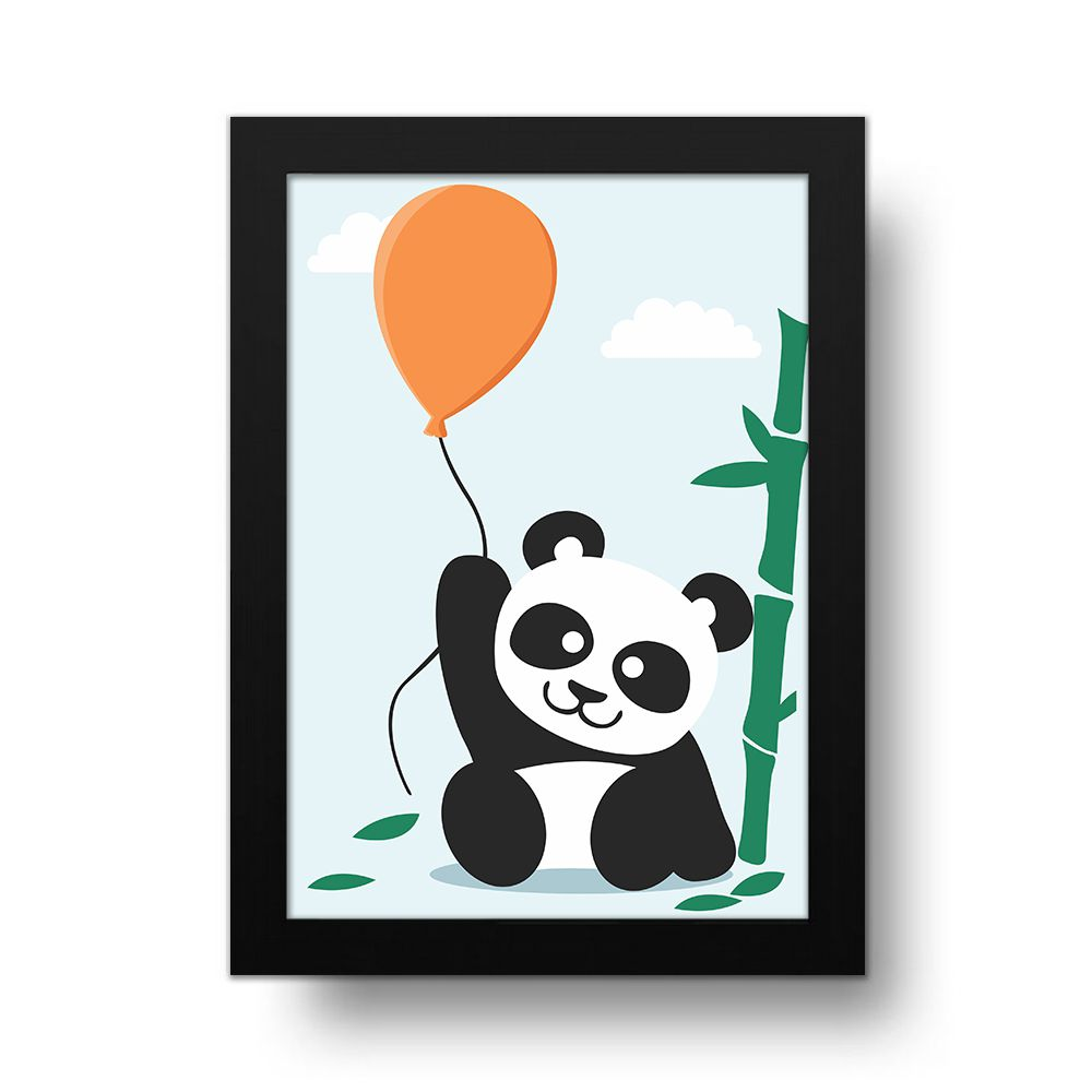 Placa Decorativa Panda Bexiga