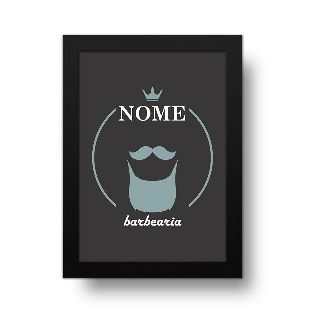 Placa Decorativa Personalizado Barba Black
