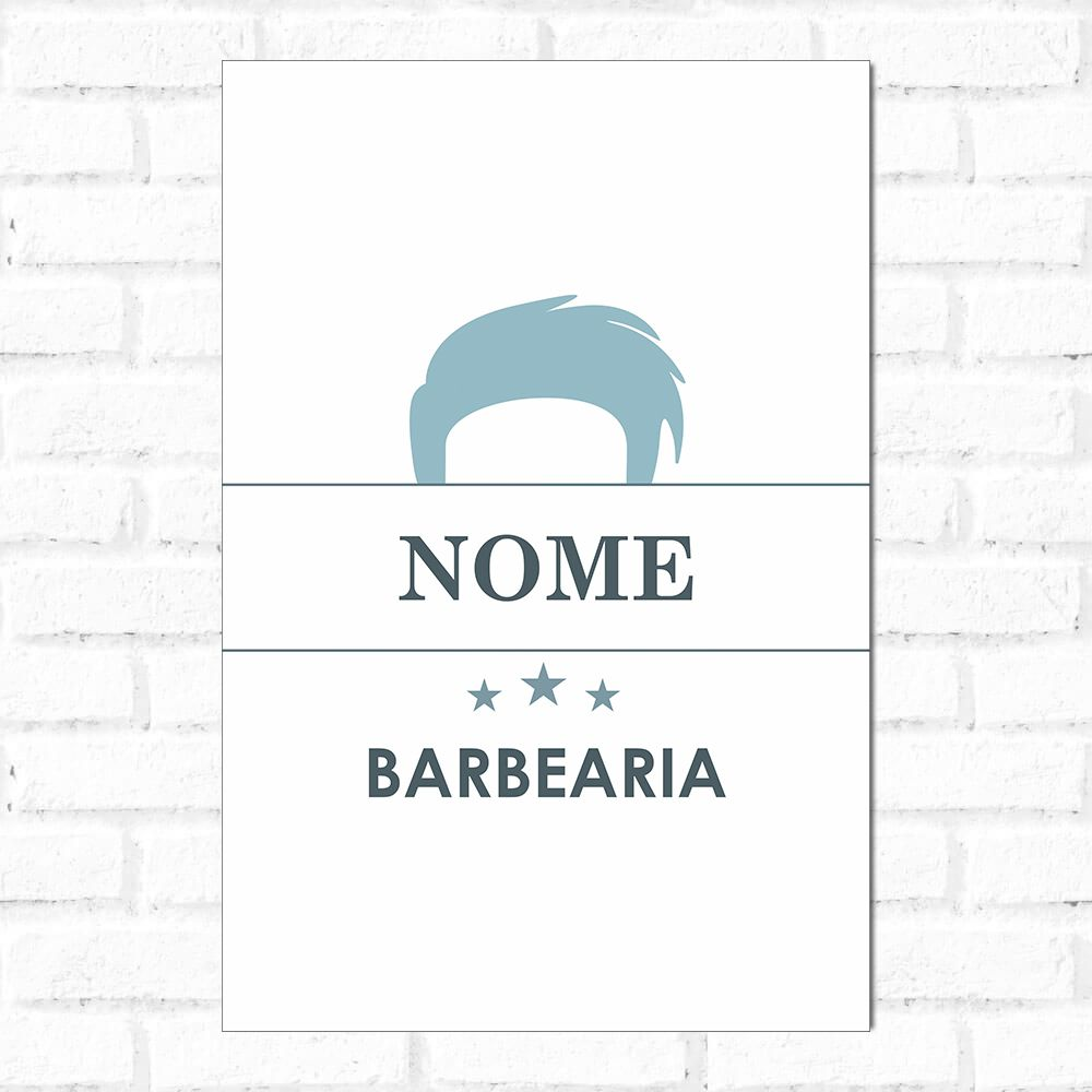 Placa Decorativa Personalizado Barbearia Ocean