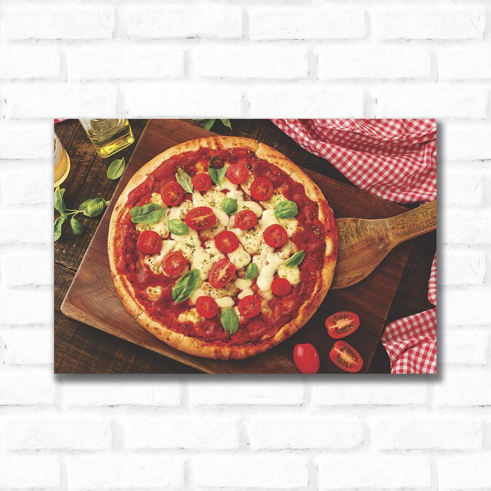 Placa Decorativa Pizza Vista Superior