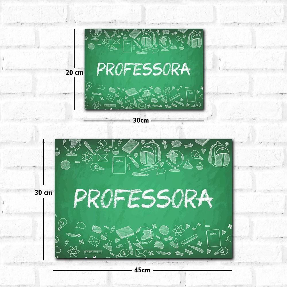 Placa Decorativa Professora