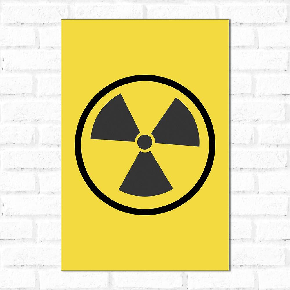 Placa Decorativa Radiação