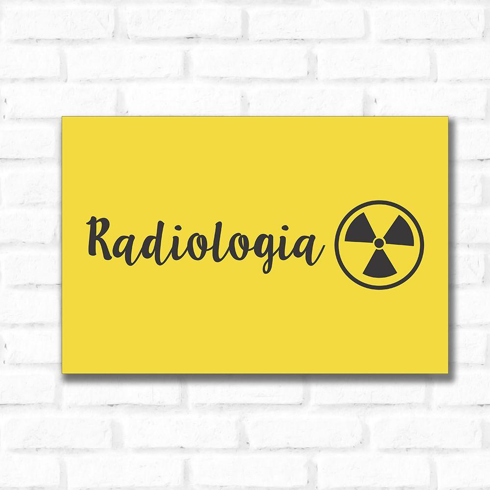 Placa Decorativa Radiologia