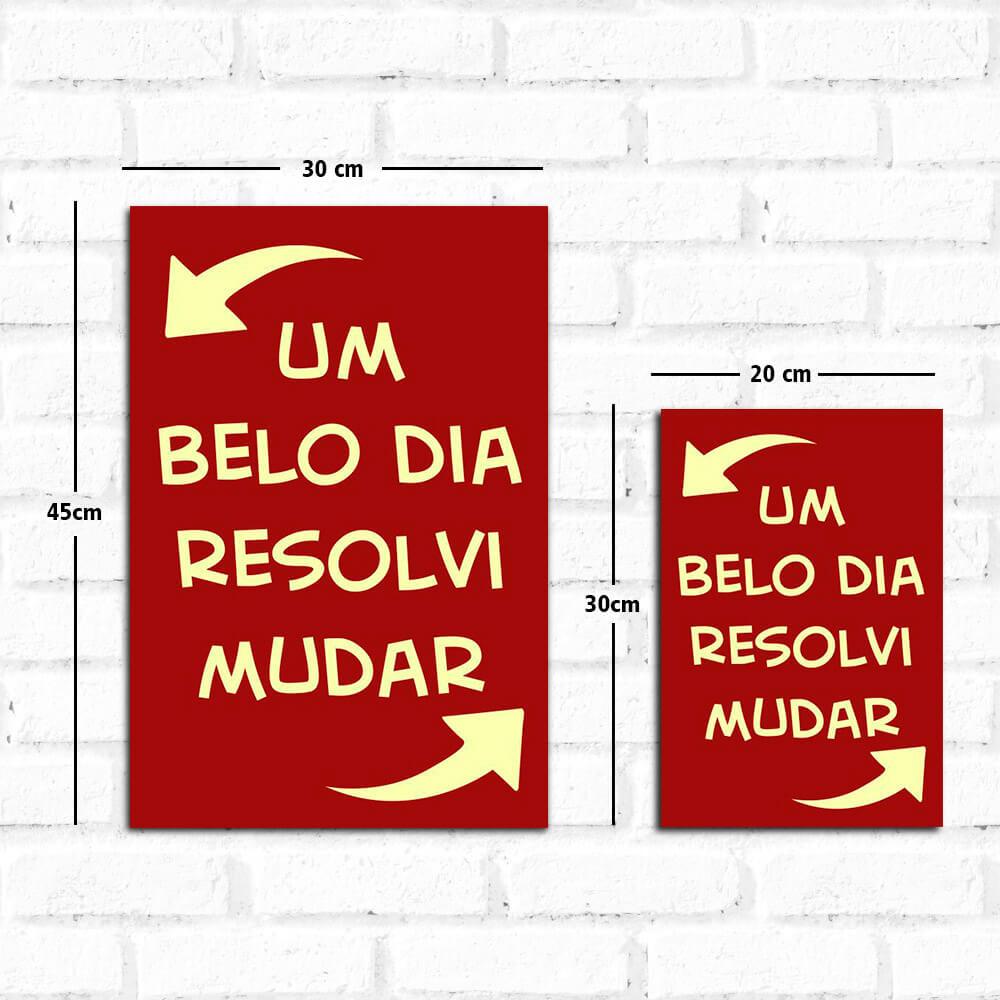 Placa Decorativa Resolvi Mudar Papel De Parede E Adesivos Qcola