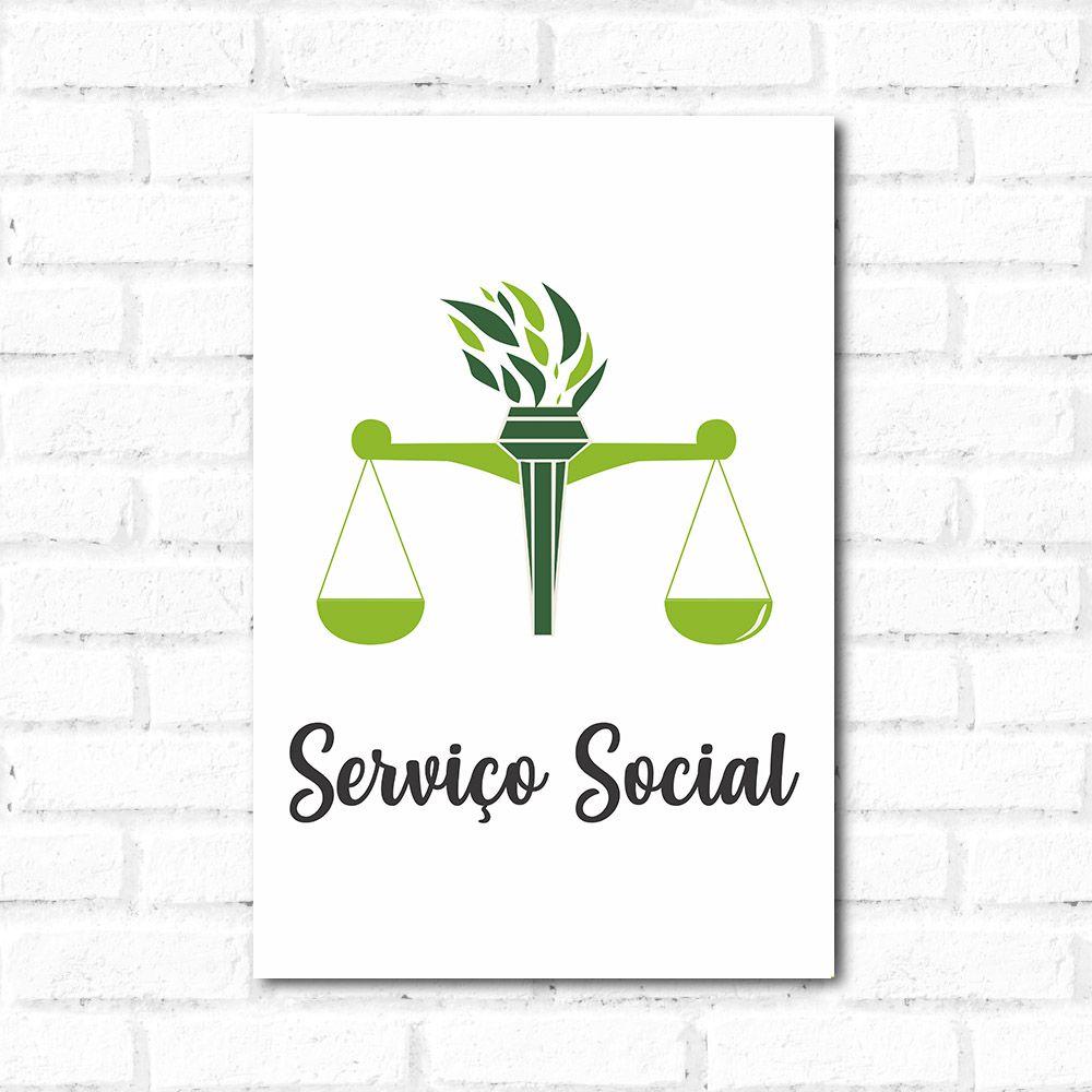 Placa Decorativa Serviço Social