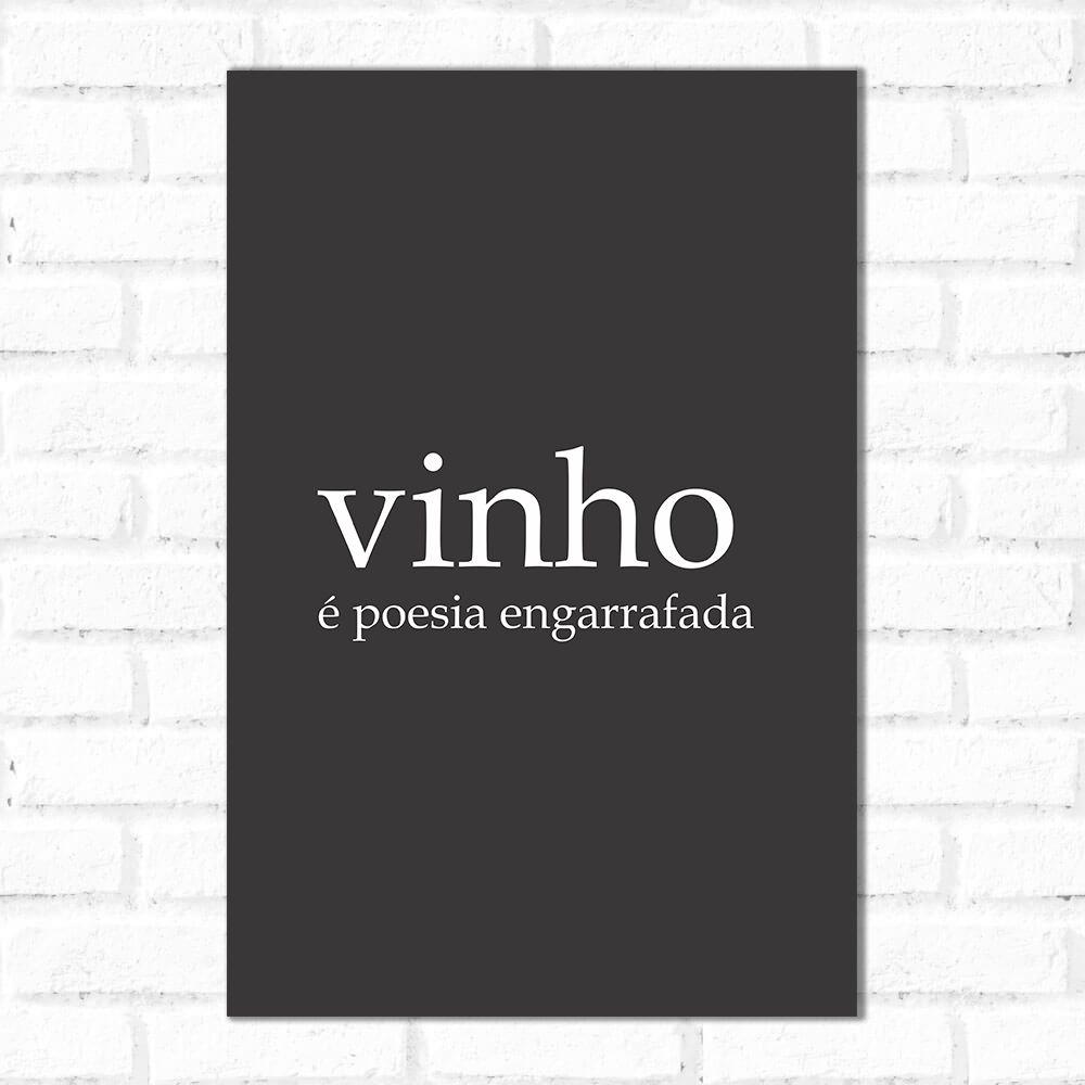 Placa Decorativa Significado Vinho