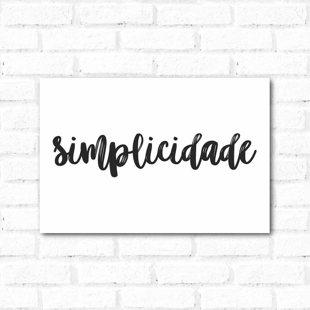 Placa Decorativa Simplicidade