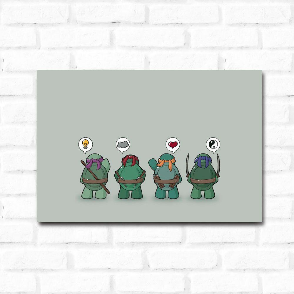 Placa Decorativa Tartarugas Ninja