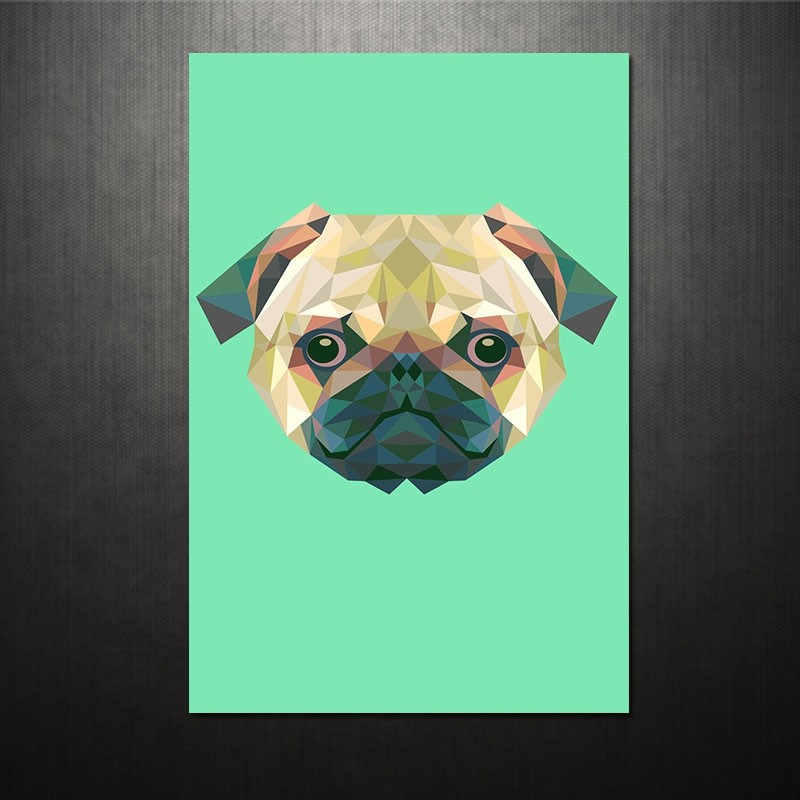 Poster Triangle dog