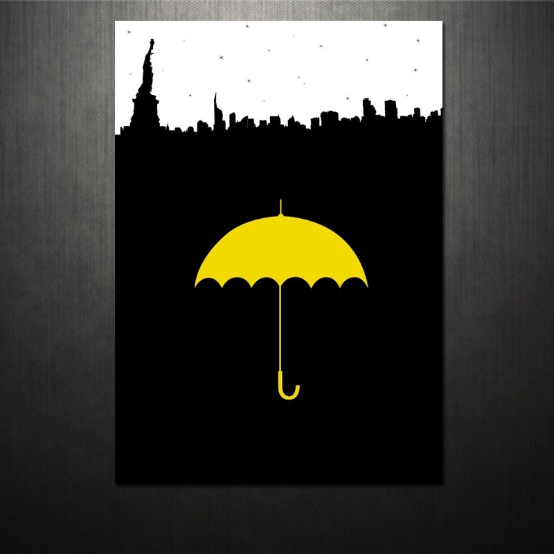 Yellow Umbrella How I Met Your Mother Poster Poster Yellow U...