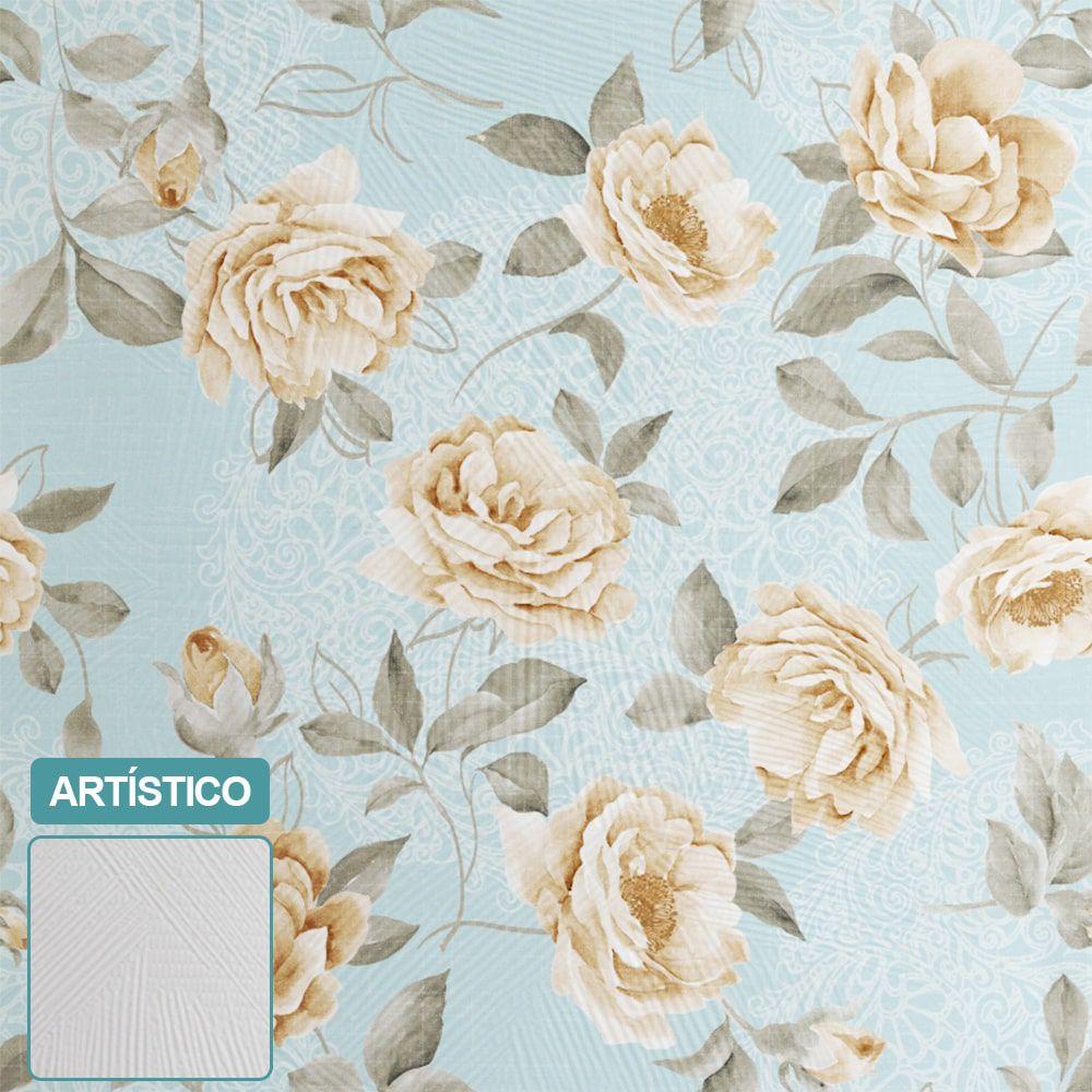 PREMIUM - Papel de Parede Vintage white roses