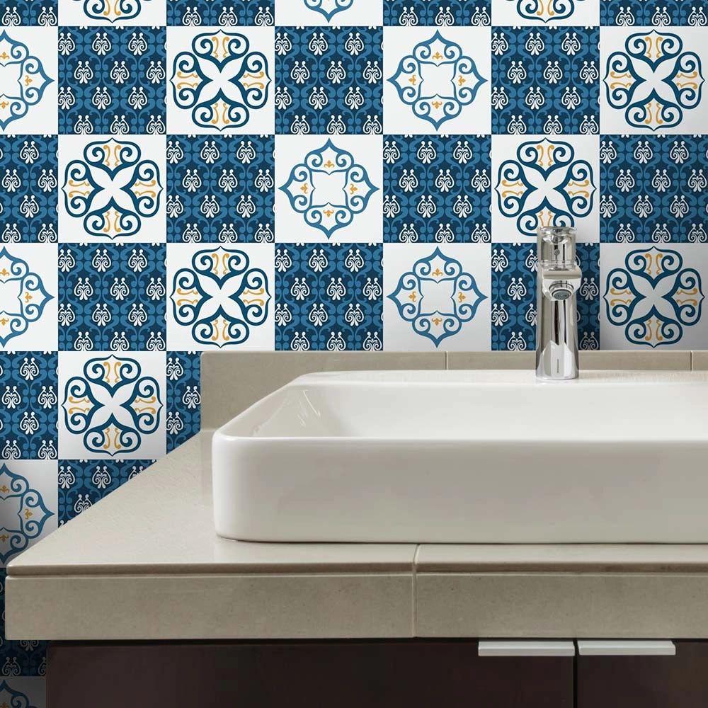 PROMOÇÃO - Adesivo para Azulejo Vicenza Blue (15x15cm)