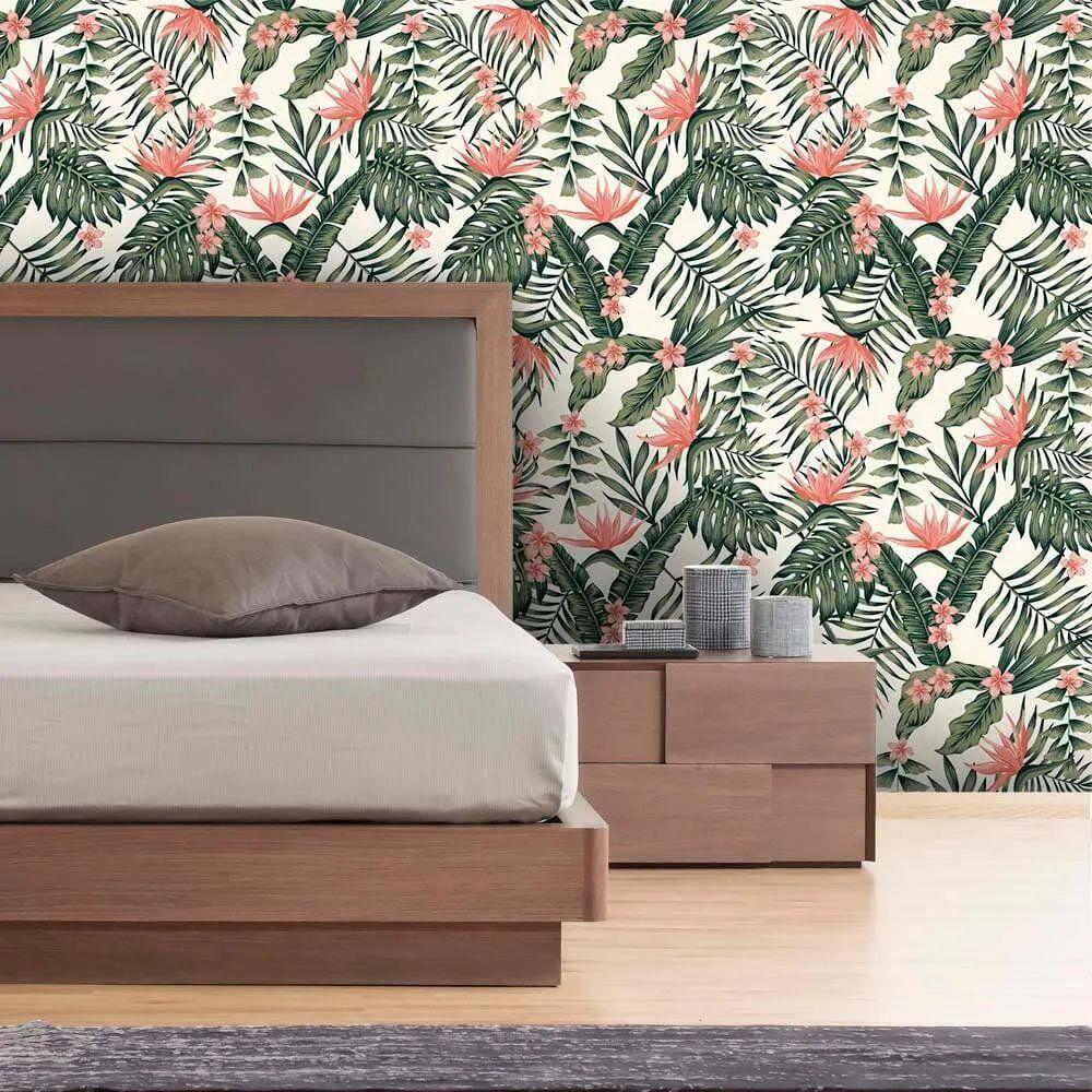 PROMOÇÃO - Papel de Parede Tropical Flowers Mag (58cm x 2,50m)