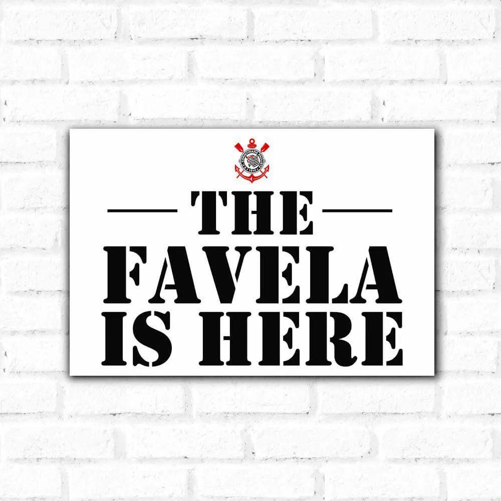 PROMOÇÃO - Placa Decorativa Favela (20x30cm)