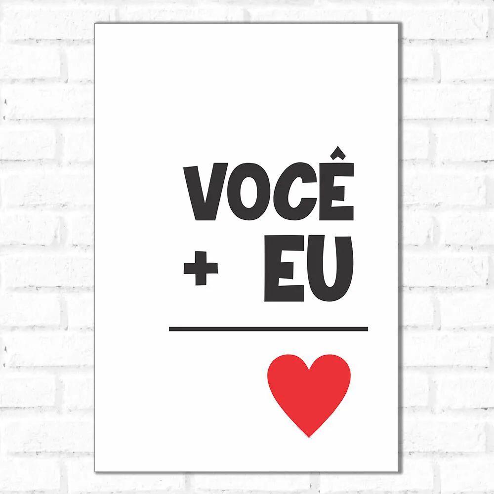 PROMOÇÃO - Placa Decorativa Igual Amor (20x30cm)