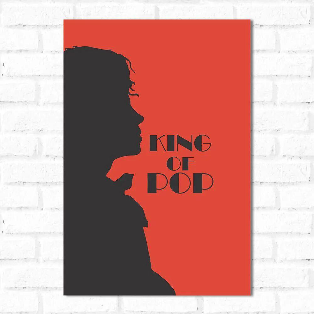 PROMOÇÃO - Placa Decorativa Michael Jackson King  Of Pop (20x30cm)