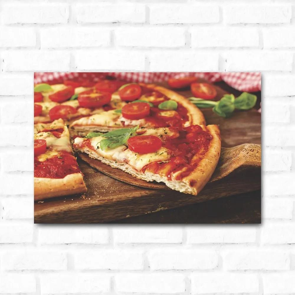 PROMOÇÃO - Placa Decorativa Pegando Pizza (17x25cm)