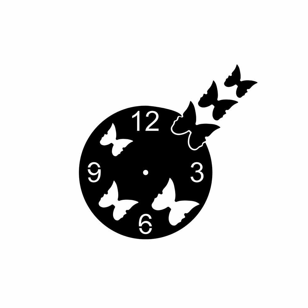 Relógio Decorativo Borboletas Basic