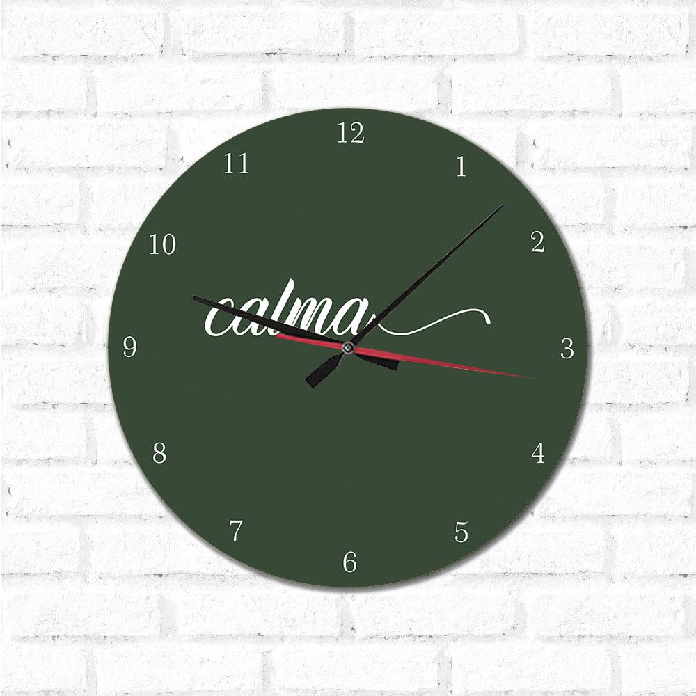Relógio Decorativo Calma