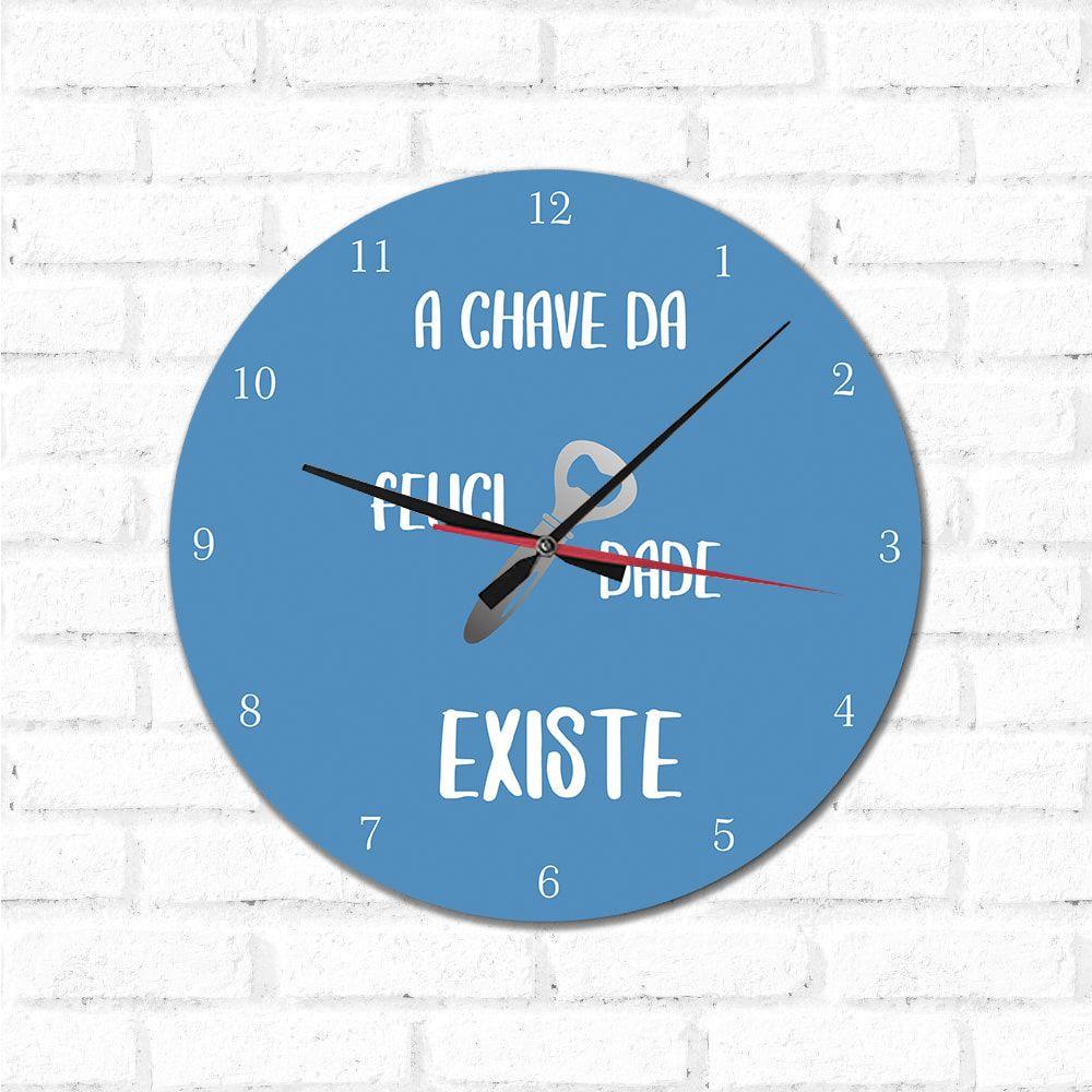 Relógio Decorativo Chave da Felicidade
