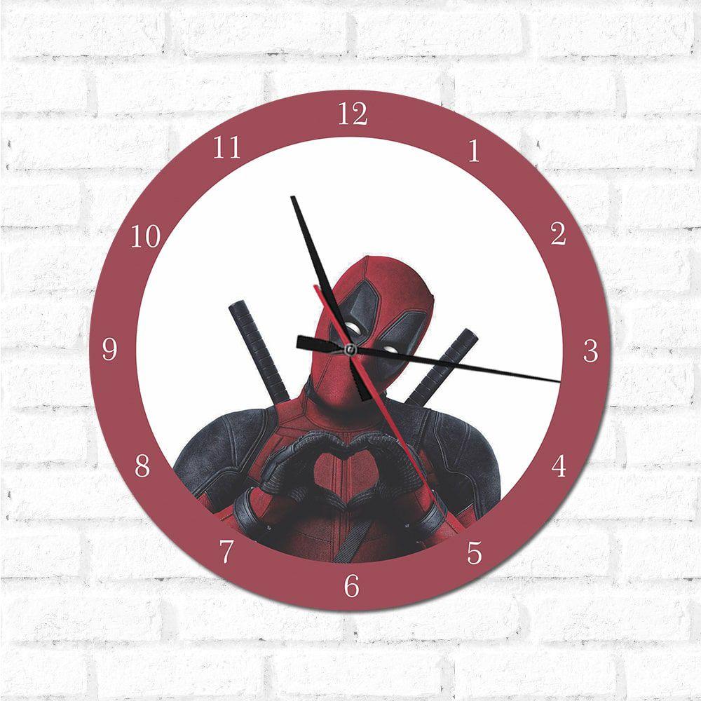 Relógio Decorativo Deadpool