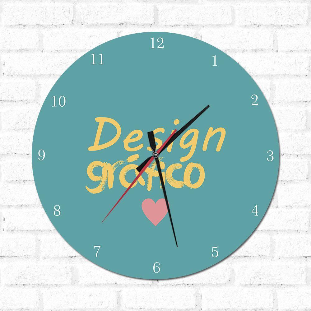 Relógio Decorativo Design Gráfico