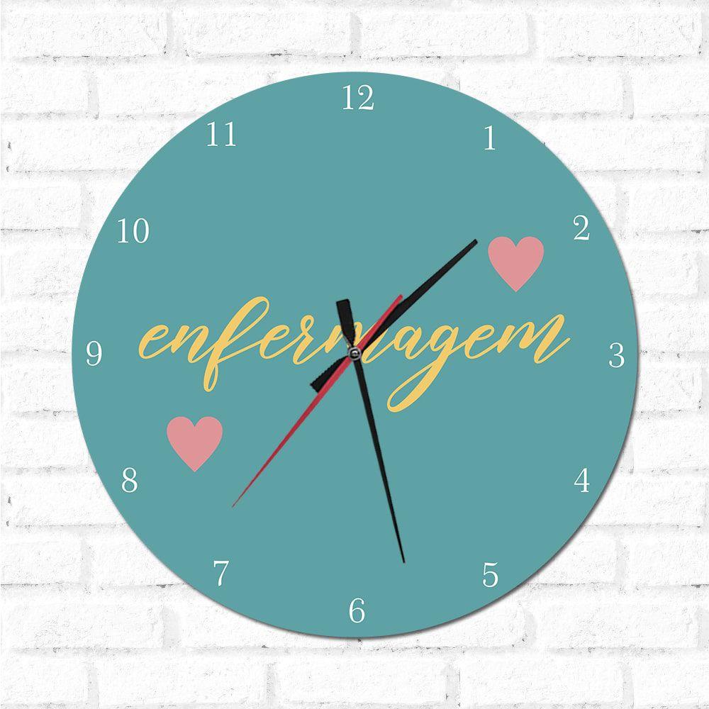 Relógio Decorativo Enfermagem