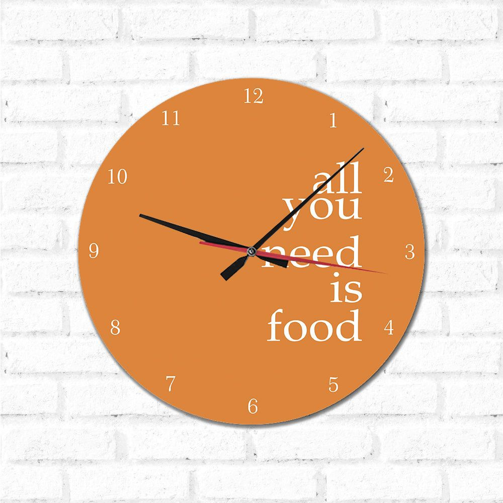 Relógio Decorativo  Is Food