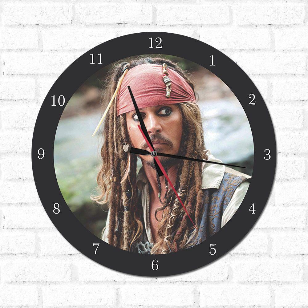 Relógio Decorativo Jack Sparrow 1