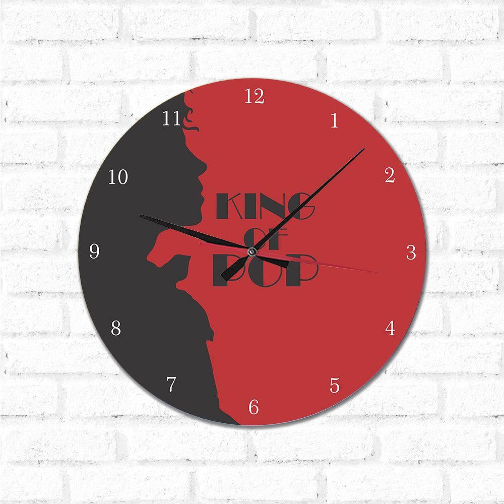 Relógio Decorativo King Of Pop