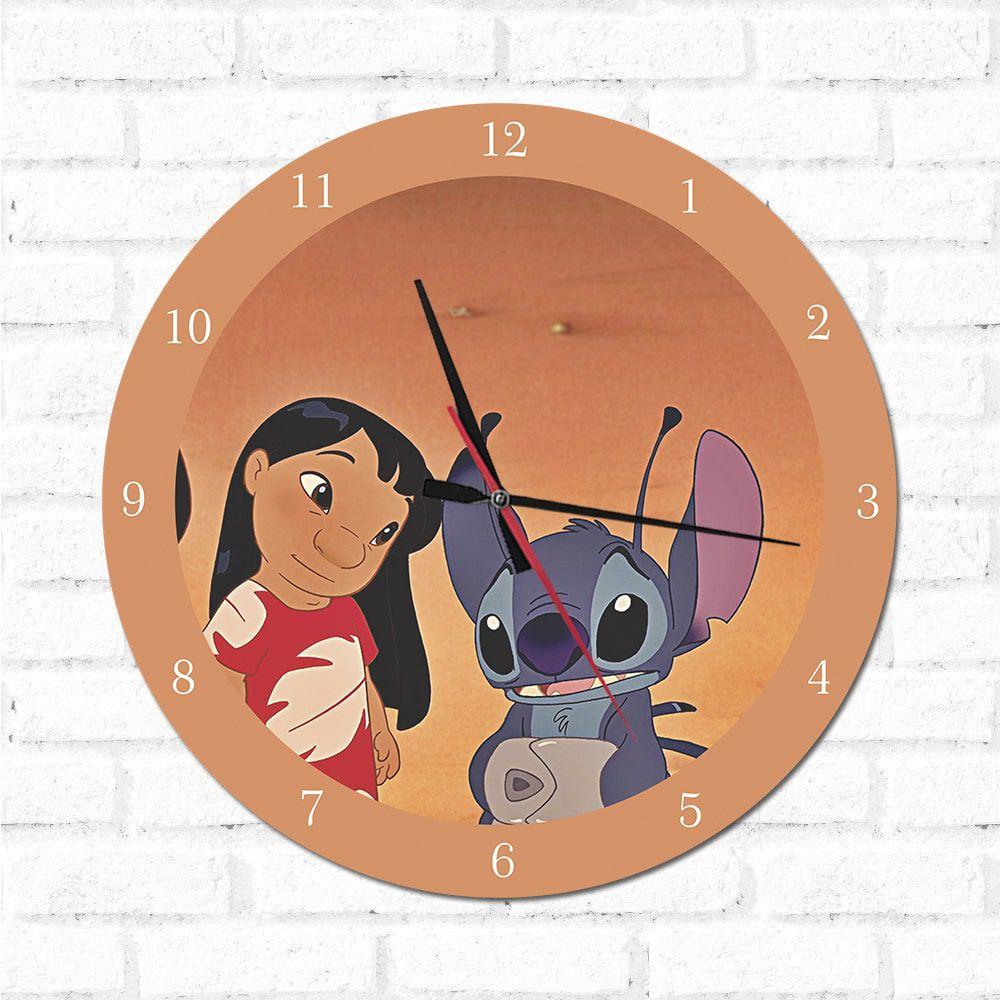 Relógio Decorativo Lilo e Stitch 1
