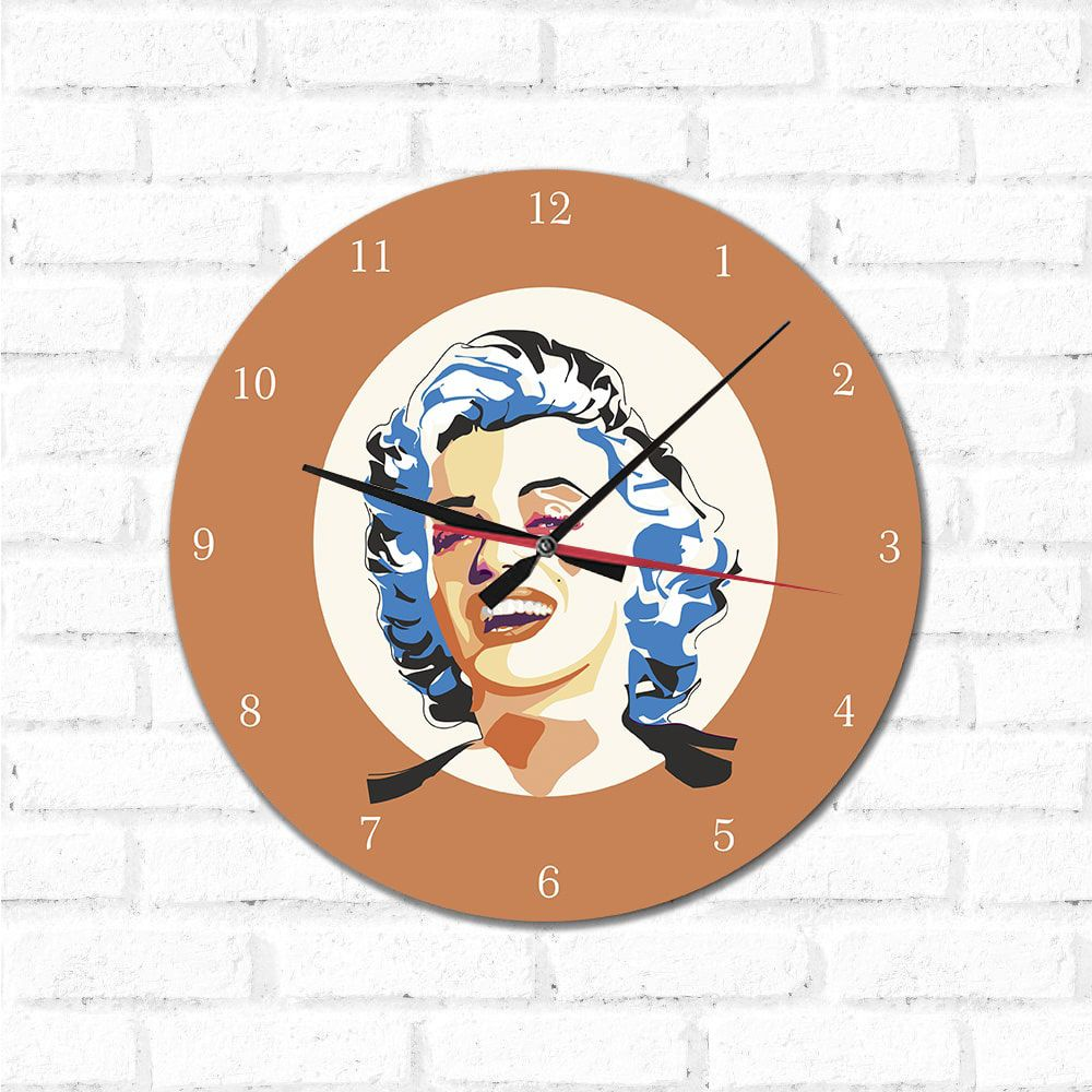 Relógio Decorativo Marilyn Monroe Pop Art