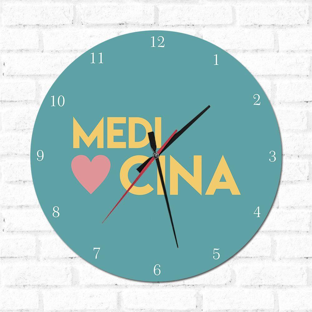 Relógio Decorativo Medicina