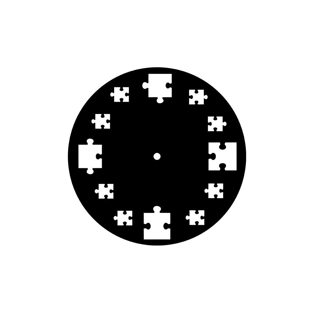 Relógio Decorativo Quebra-Cabeça