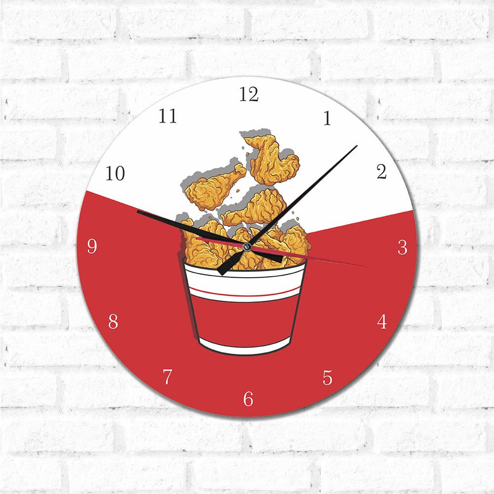 Relógio Decorativo Frango Frito