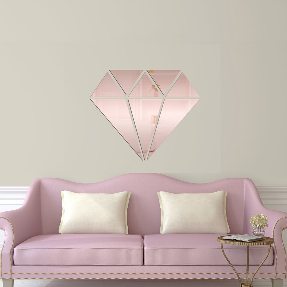 Espelho Decorativo Diamante Rose Gold