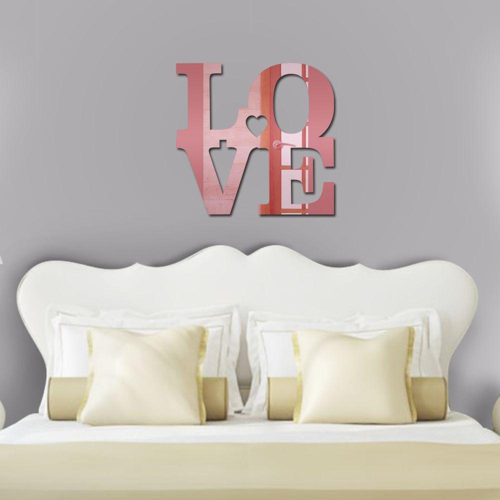 Espelho Decorativo In Love Rose Gold