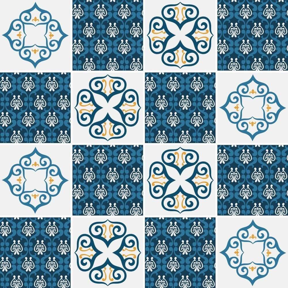 Saldão - Adesivo de Azulejo Vicenza Blue 15x15 cm
