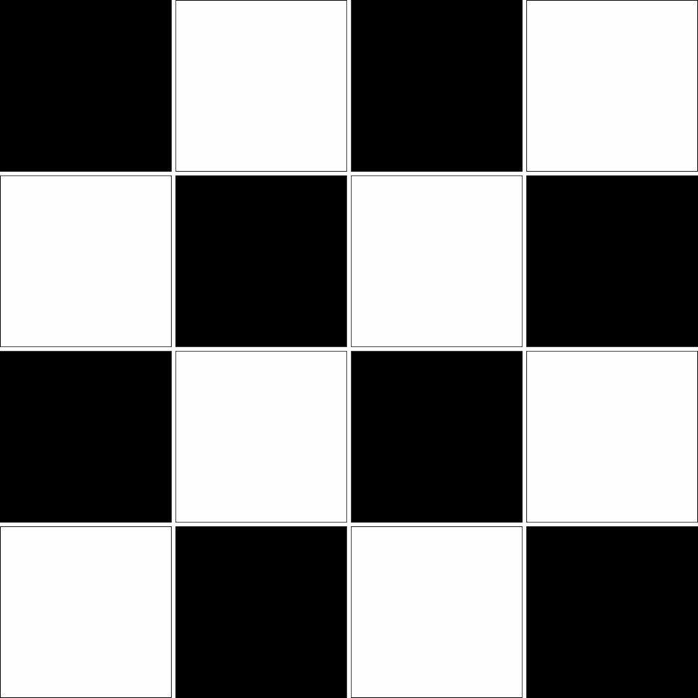 Saldão - Adesivo de Azulejo Xadrez 15x15 cm
