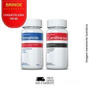 Combo 01 Testopro®500 + 01 L-Carnitina Inove Nutrition c/ 60 cápsulas cada +  Brinde Coqueteleira 700 ml
