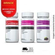 Combo - 01 L-Carnitina + 01 Testofemme + 01 Amora Inove Nutrition  + Brinde Moove Slim +  Moove Fiber + Moove Energy + Moove Hydrate + Camiseta
