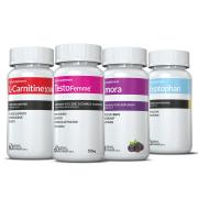 Combo - 01 L-Carnitina + 01 Testofemme + 01 Triptofano + 01 Amora Inove Nutrition  + Brinde Moove Slim +  Moove Fiber + Moove Energy + Moove Hydrate + Camiseta