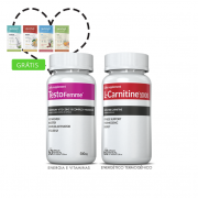 Combo 01 L-Carnitina + 01 Testofemme® c/ 60 cápsulas cada + (grátis) Moove Slim + Moove Fiber + 10% off
