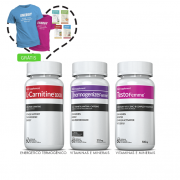 Combo 01 L-Carnitina + 01 Thermogenize®Femme + 01 Testofemme® c/ 60 cápsulas cada + (grátis) Moove Slim + Moove Fiber + Moove Energy + Moove Hydrate + Camiseta + 15%off