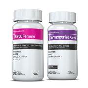 Combo 01 Testofemme® + 01 Thermogenize®Femme Inove Nutrition c/ 60 cápsulas cada + Brinde Moove Slim + Moove Fiber.