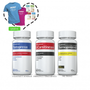 Combo 01 Testopro®500 + 01 L-Carnitina + 01 Thermogenize®420 c/ 60 cápsulas cada + (grátis) Moove Energy + Moove Slim + Moove Fiber + Moove Hydrate + Camiseta + 15% off