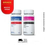 Combo 01 Testopro500® + 01 Testofemme® Inove Nutrition c/ 60 cápsulas cada +  Brinde Moove Slim + Moove Energy