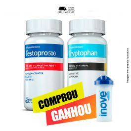Combo  01 Testopro c/ 60 cápsulas +  01 Triptofano Inove Nutrition c/ 30 cápsulas + Brinde Moove energy e Moove Hydrate + Coqueteleira Inove Nutrition 600 ML